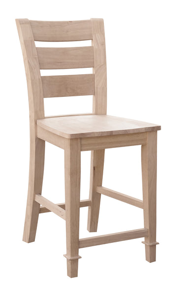 Tuscany Hardwood Bar Height Stool - UnfinishedFurnitureExpo