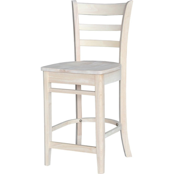 Emily Hardwood Bar Height Stool - UnfinishedFurnitureExpo