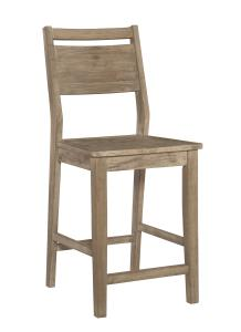 "Aspen 24"" Panel Back Counter Stool - UnfinishedFurnitureExpo"