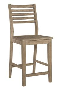 "Aspen 24"" Slatback Counter Stool - UnfinishedFurnitureExpo"