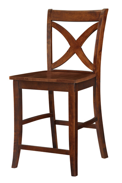 "Vineyard Hardwood Stool - 24"" (Finished Options) - UnfinishedFurnitureExpo"