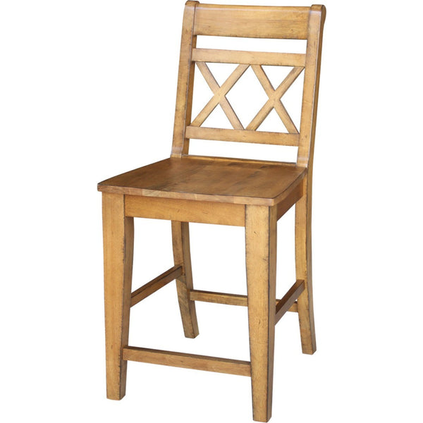 "Canyon XX Back Counter Stool - 24"" (Finish Options) - UnfinishedFurnitureExpo"