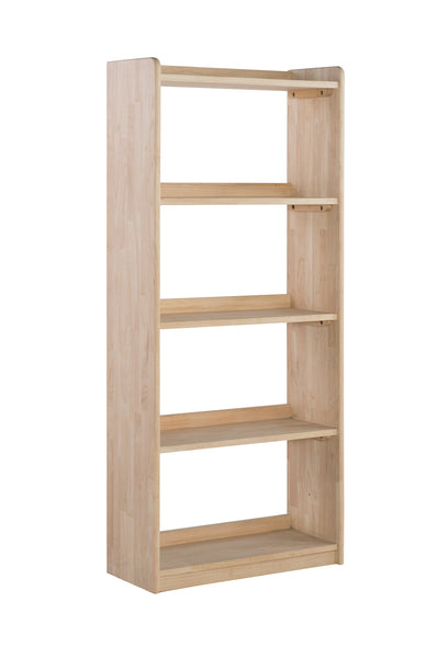 "62"" Tall Unfinished Wood 3-shelf Unfinished Accent Bookcase"