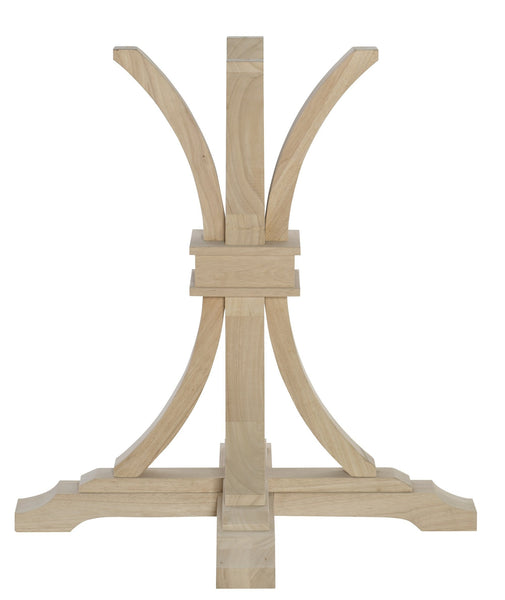 Terra-2 Flaired Table Pedestal - Choose From 2 Heights! - UnfinishedFurnitureExpo