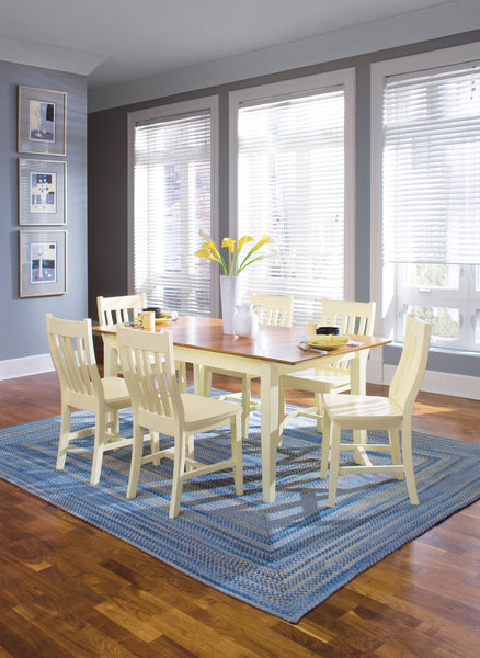 Shaker Butterfly Leaf Extension Hardwood Dining Table