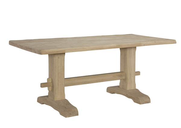 "Live Edge Style Hardwood Trestle Table - 36"" x 72"" - UnfinishedFurnitureExpo"