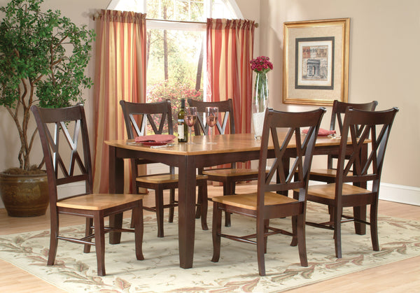 Double X Back Dining Chair - 2 Pack - UnfinishedFurnitureExpo