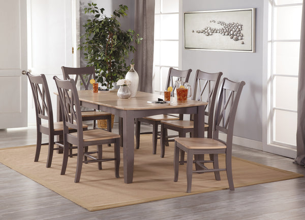 Double X Back Hardwood Dining Chairs - 2 Pack - UnfinishedFurnitureExpo