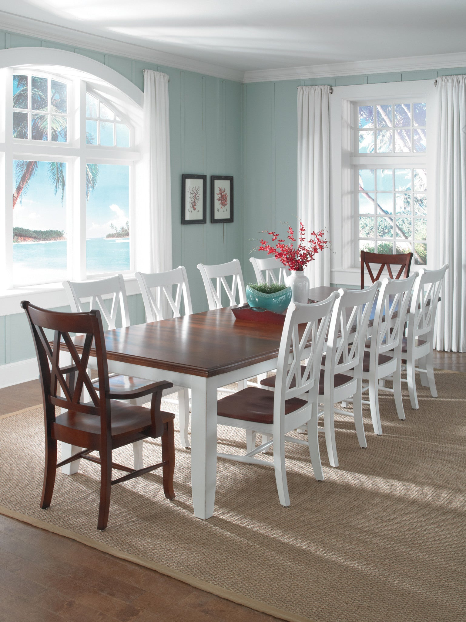 Best Selling Double X Back Dining Chair 2 Pack Free