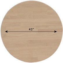 "42"" Round Solid Hardwood Dining Table Top (Finish Options)"