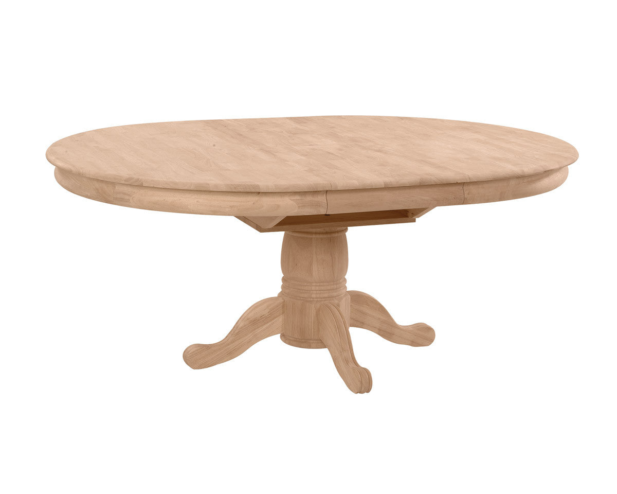42 round hardwood table 18 butterfly leaf free for Round table with butterfly leaf