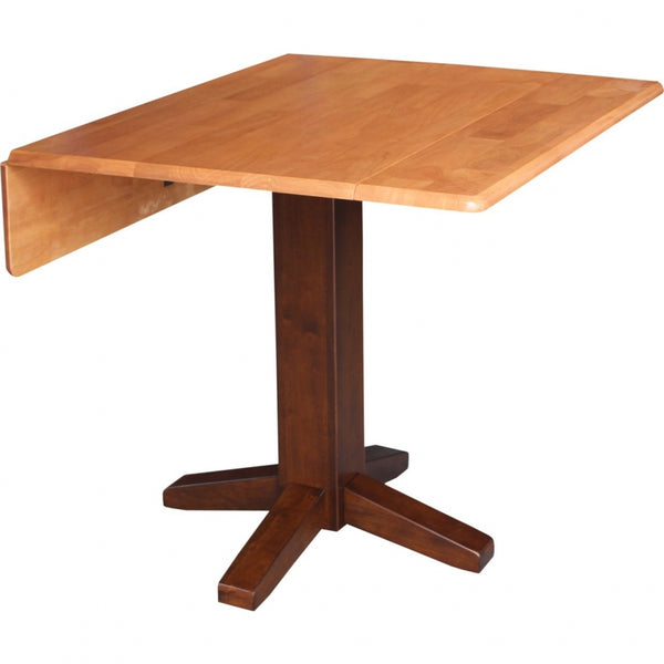 "Unfinished Hardwood Square Drop-Leaf Dining Table - 36"" (Choose Finish) - UnfinishedFurnitureExpo"