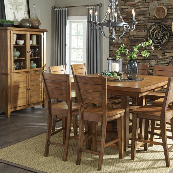 "Canyon Hardwood Gathering Height Butterfly 42"" Table (Finish Options) - UnfinishedFurnitureExpo"