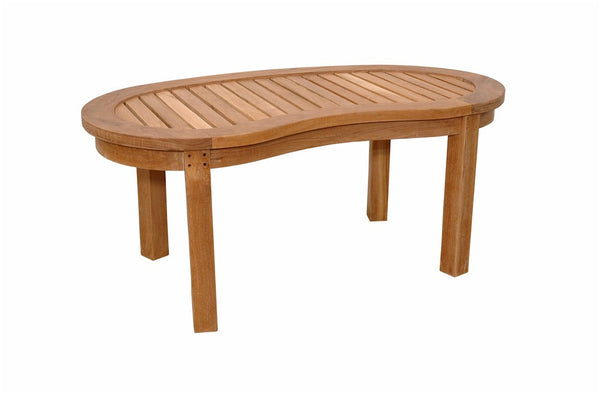 Teak Kidney Table (Curve Table) - UnfinishedFurnitureExpo