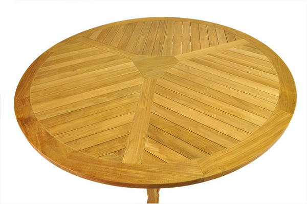 "Unfinished Furniture Expo Mission 51"" Round Teak Table"