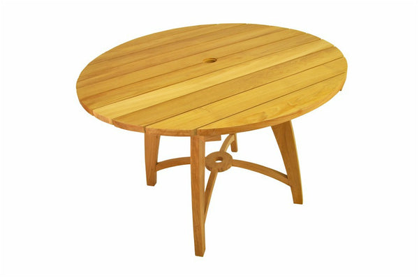 "Florence 47"" Round Teak Table - UnfinishedFurnitureExpo"
