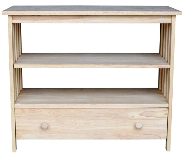 "36"" Hardwood Mission TV Stand - UnfinishedFurnitureExpo"