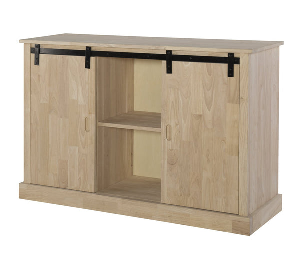 "Barn Door TV Stand - 54"" - UnfinishedFurnitureExpo"