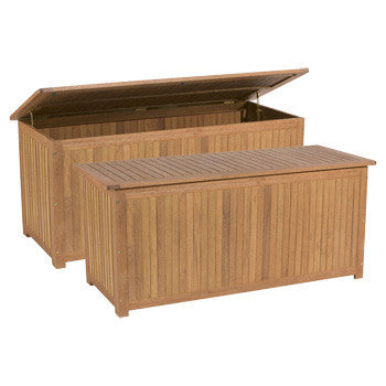 """Eden"" Yellow Balau Wood Storage Box/Bench - UnfinishedFurnitureExpo"