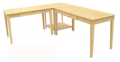 "Solid Hardwood Writing Table - 60"" Wide (Finished Option)"