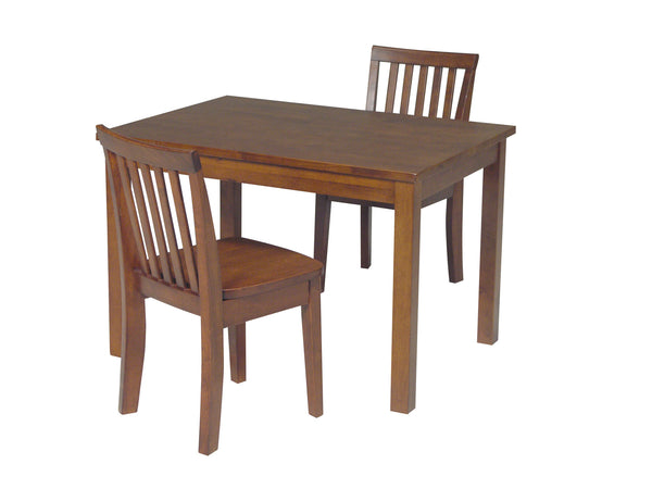 Solid Hardwood Mission Children's Table & Chair Set - UnfinishedFurnitureExpo