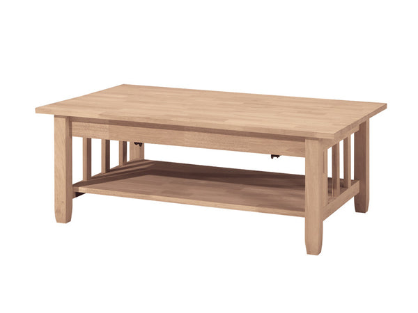 Mission Lift-Top Hardwood Coffee Table - 42""
