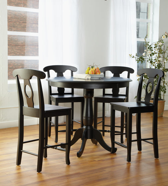 Empire Hardwood Dining Chair with Wood Seat - 2 Pack
