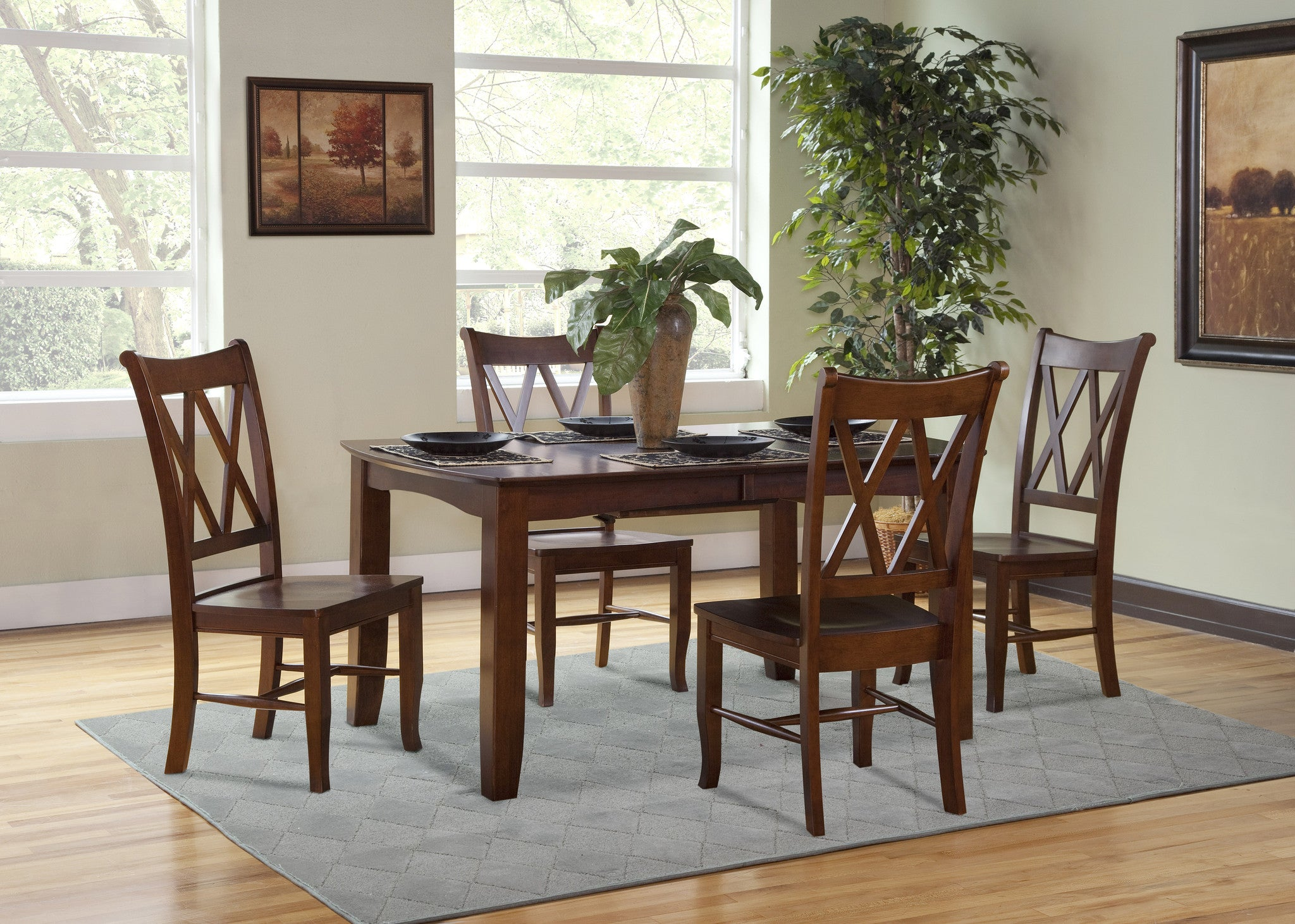 x back dining chairs. Double X Back Hardwood Dining Chairs - 2 Pack UnfinishedFurnitureExpo