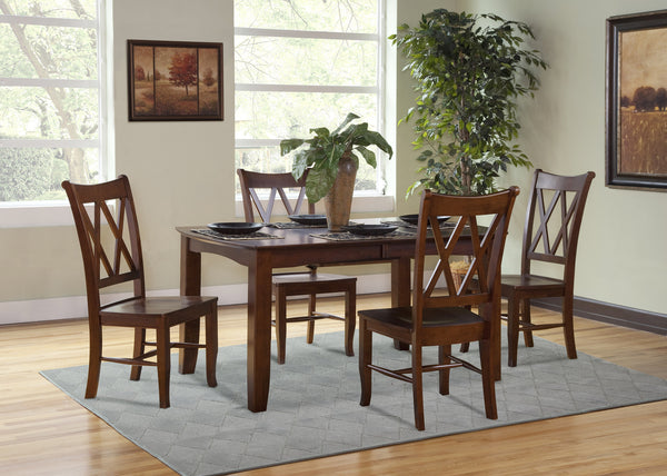 Double X Back Hardwood Dining Chair - 2 Pack
