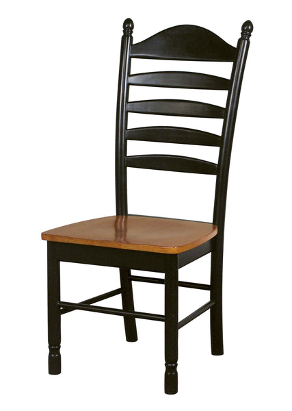 Bedford Hardwood Ladderback Dining Chair - 2 Pack - UnfinishedFurnitureExpo