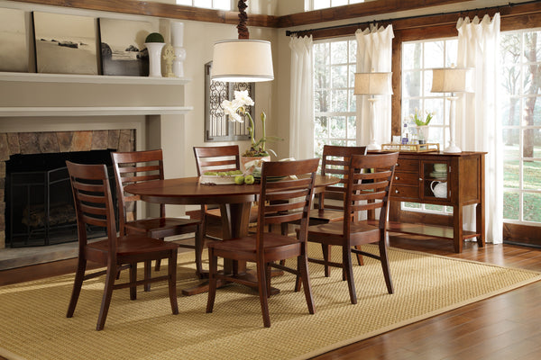 Roma Unfinished Hardwood Dining Chair with Upholstered Seat (2-Pack)
