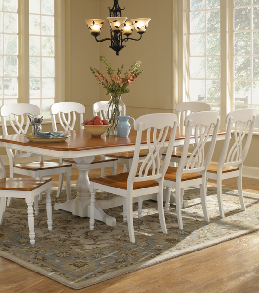 Lattice Back Hardwood Dining Chair (2-Pack) - Finish Options