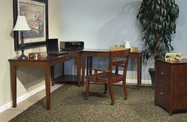 "Hardwood Writing Desk with Drawer - 48"" (Finished Options) - UnfinishedFurnitureExpo"