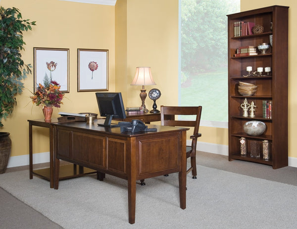 """Lancaster"" Executive Unfinished Hardwood Desk - UnfinishedFurnitureExpo"