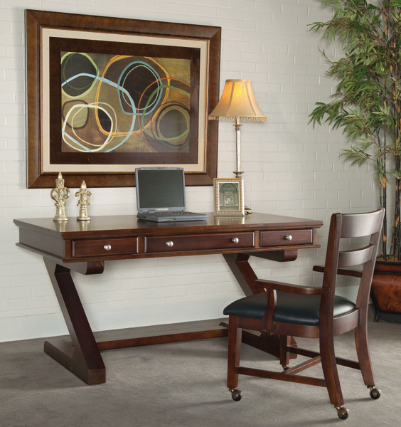 "Zodiac Executive Hardwood Desk with Z Base - 60"" (Finish Options)"