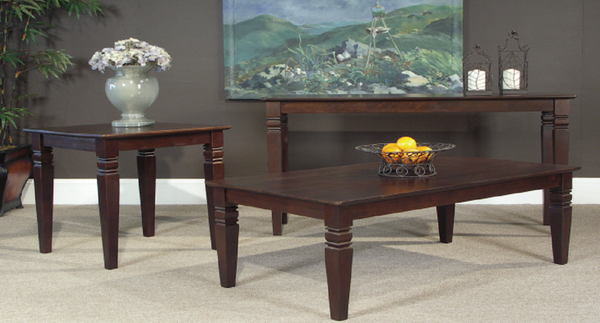 "Java Hardwood 48"" Coffee Table (Finish Options) - UnfinishedFurnitureExpo"
