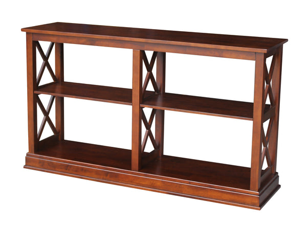 X-Sided Hardwood Sofa Table