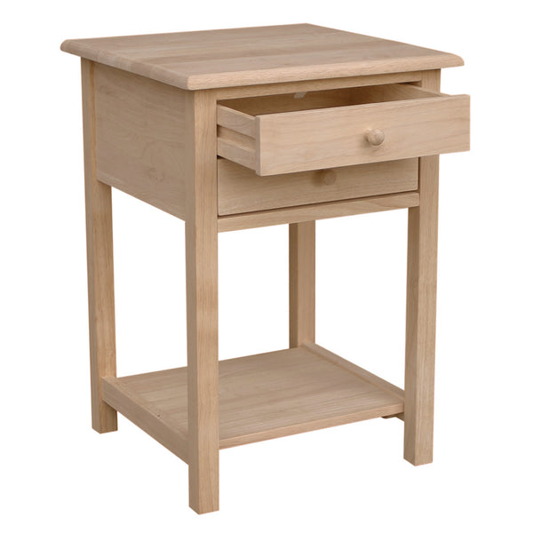 Hardwood Lamp Table with 2-Drawers