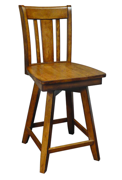 San Remo Hardwood Swivel Counterstool - UnfinishedFurnitureExpo