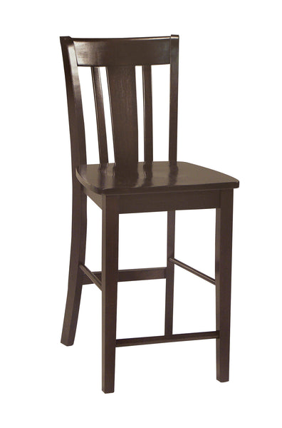 San Remo Hardwood Counterstool (Finish Options) - UnfinishedFurnitureExpo