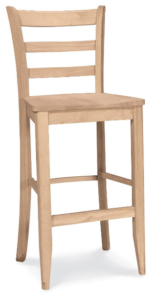 Unfinished Furniture Expo Baker Hardwood Ladderback Barstool
