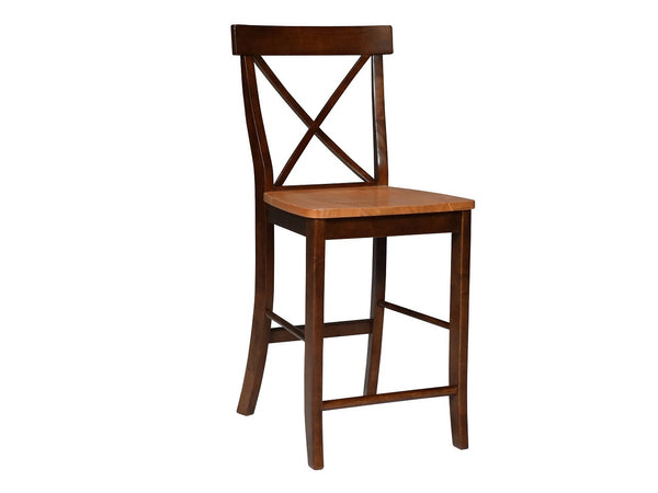 X-Back Hardwood Counterstool (Finish Options) - UnfinishedFurnitureExpo