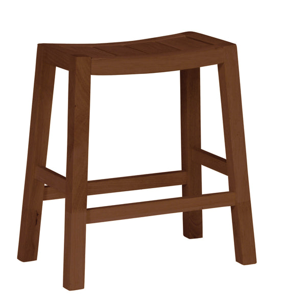 "Hardwood Ranch Counter Stool - 24"" Tall - UnfinishedFurnitureExpo"