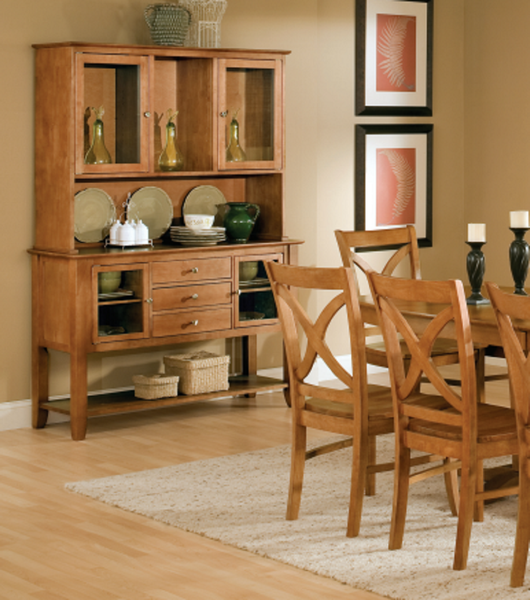 "Cosmopolitan Hardwood Hutch - 52"" (Finish Options) - UnfinishedFurnitureExpo"