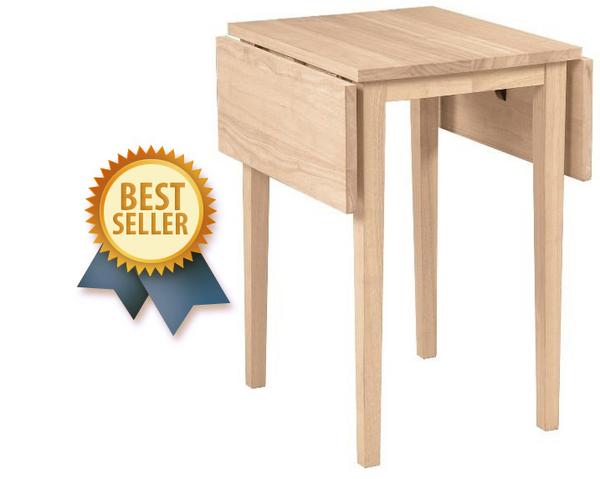"Small Dropleaf Hardwood Table - 22"" (Finish Options)"