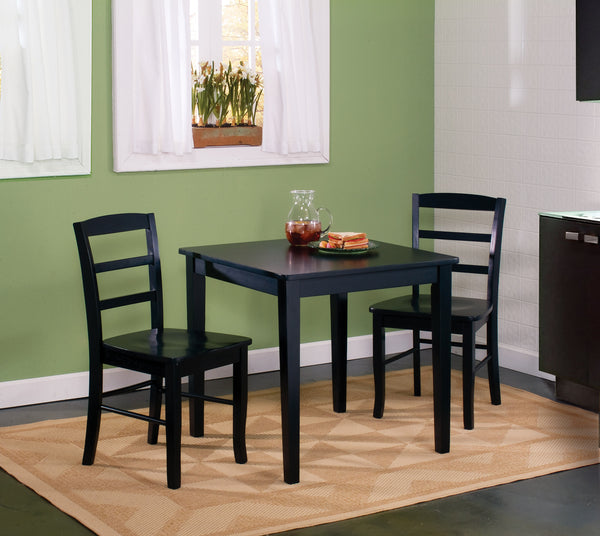 3-Pc. Unfinished Square Hardwood Dining Set - UnfinishedFurnitureExpo