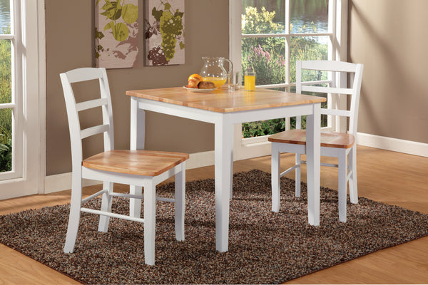 3-Pc. Unfinished Square Hardwood Dining Set