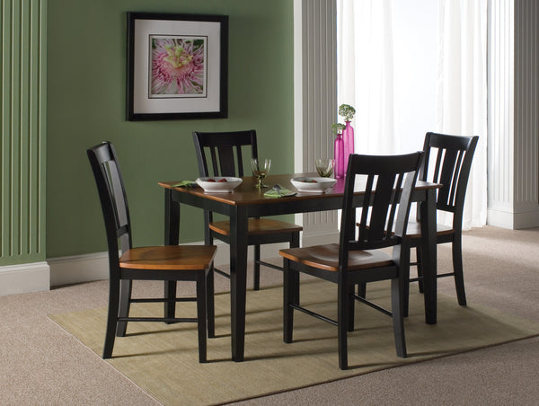 "Hardwood Farmhouse Dining Table - 30"" x 48"" (Choose Height and Style) - UnfinishedFurnitureExpo"