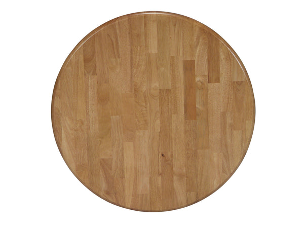 Joyce Round Solid Hardwood Table (Choose Size & Height) - UnfinishedFurnitureExpo