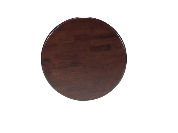 Transitional Round Solid Hardwood Table (Choose Size & Height) - UnfinishedFurnitureExpo